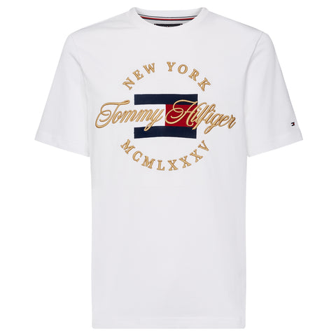 Tommy Hilfiger - Emblem Chest Tee White