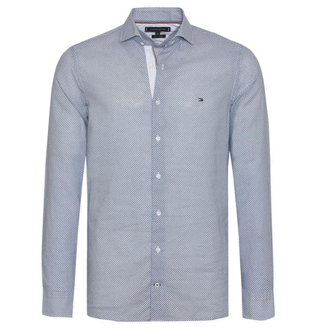 Tommy Hilfiger Slim Cotton Linen Printed Shirt