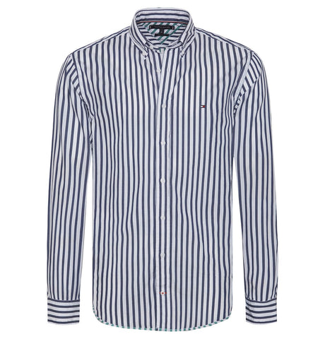 Tommy Hilfiger - Tommy Hilfiger Two Tone Dobby Striped Shirt