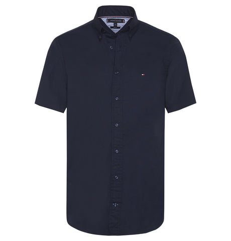 Tommy Hilfiger Stretch Poplin short sleeve Shirt Blue