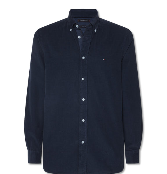 Tommy Garment Corduro Shirt Blue