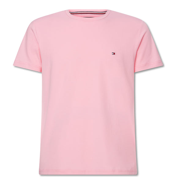 Tommy Stretch Slim Fit Tee Pink