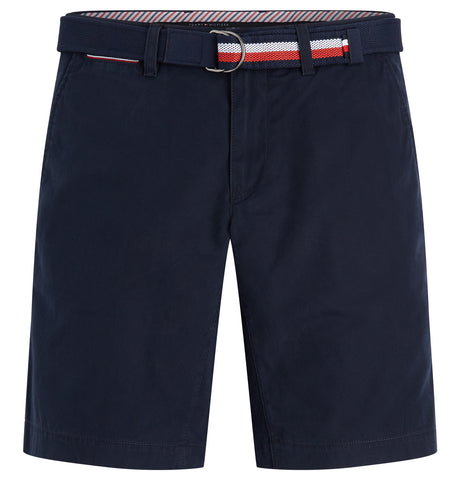 Brooklyn Shorts Light Twill Belt Dark Blue