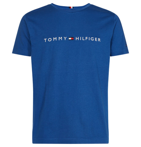 Tommy Logo Tee Blue Quartz