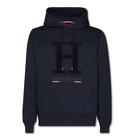 Applique Artwork Hoodie Navy