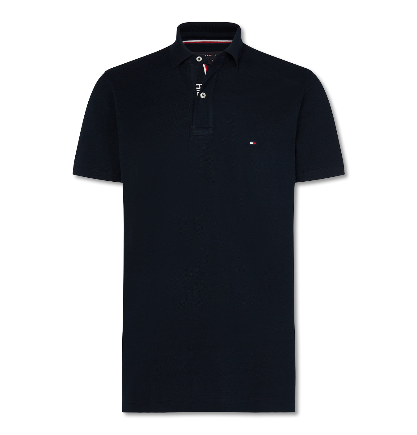 Image of   Hilfiger Placket Regular Polo Navy