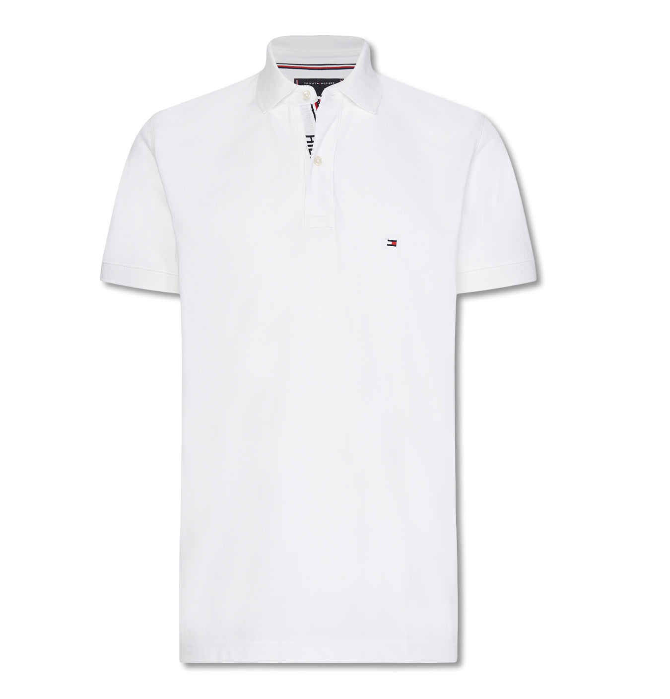 Image of   Hilfiger Placket Regular Polo White