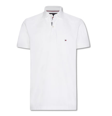 Hilfiger Placket Regular Polo White
