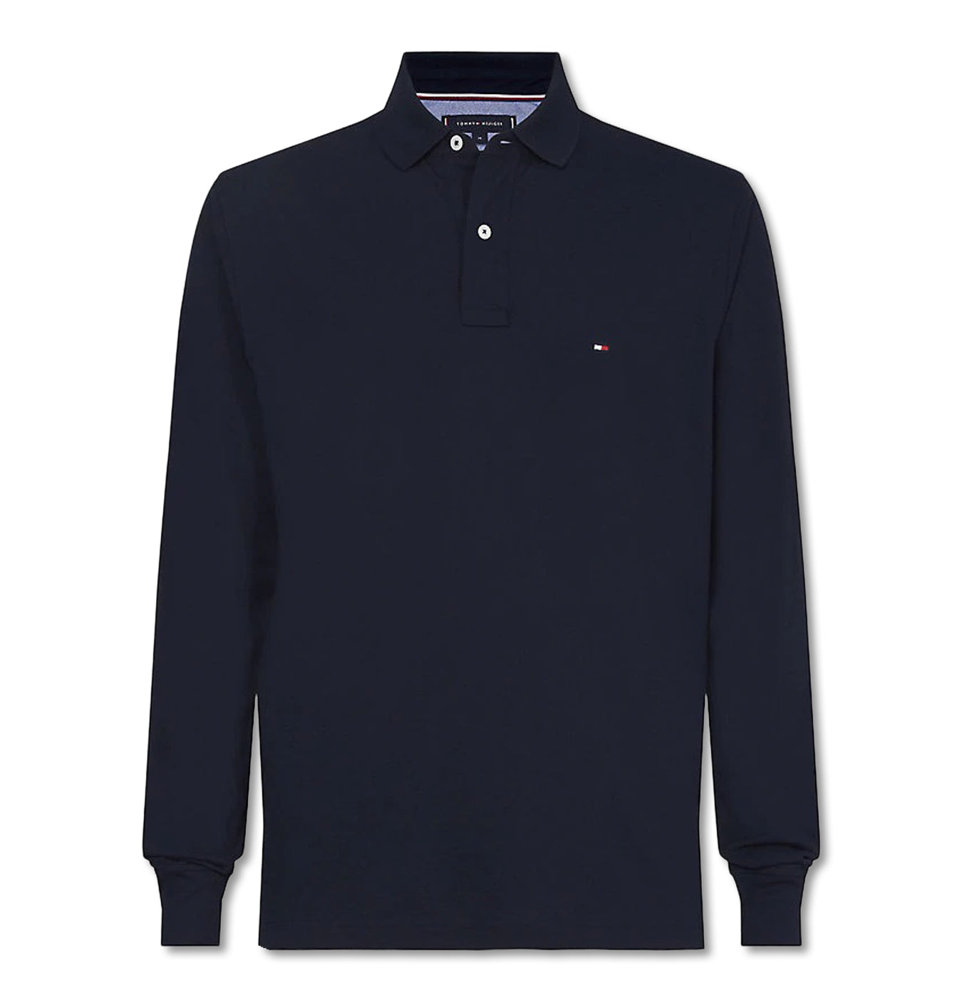 Image of   Tommy Regular Polo LS Navy