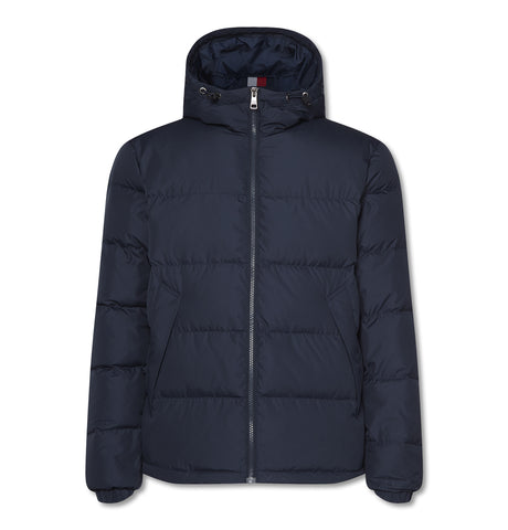 Hooded Redown Bomber Dark Blue