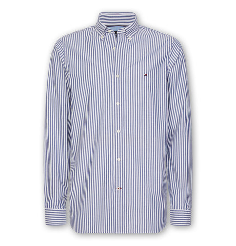 Tommy Slim Natural Soft Stripe Shirt Blue Ink