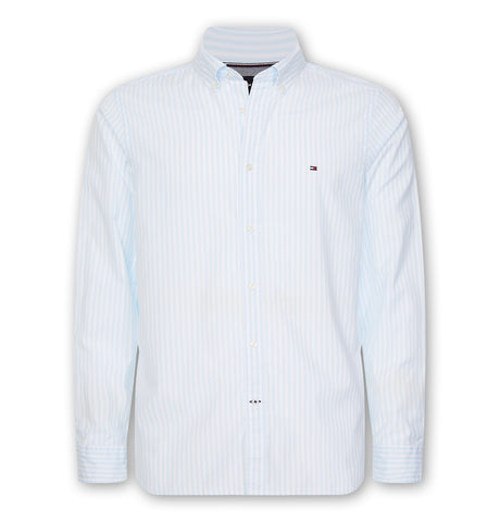 Tommy Slim Natural Soft Stripe Shirt Keepsake Blue