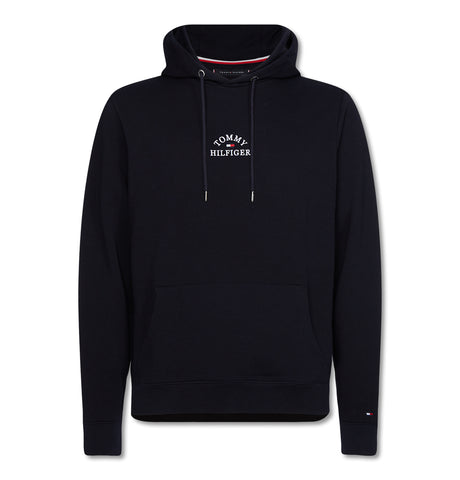 Tommy Hilfiger - Basic Embroidered Hoodie Blue