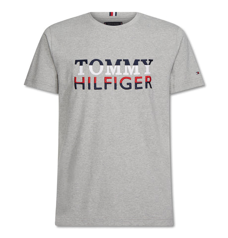 Tommy Hilfiger - Corp Texture Embro Tee Grey