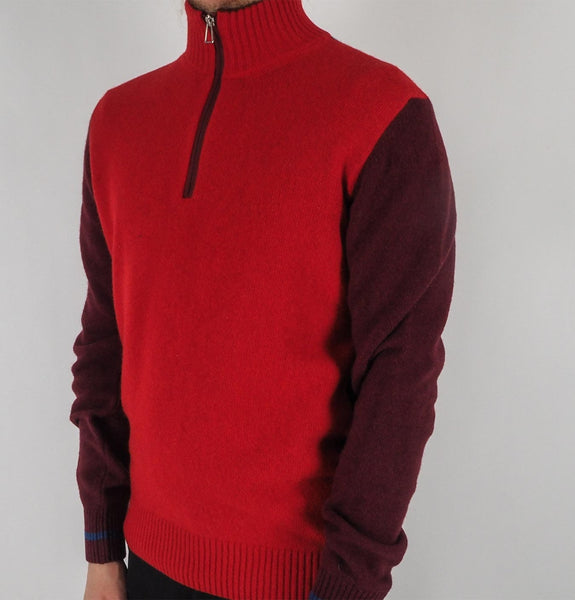 Mens Zip Neck Sweater