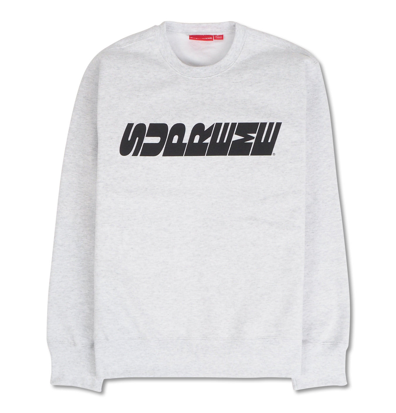 Image of   Supreme Rotated Logo Crewneck Grey