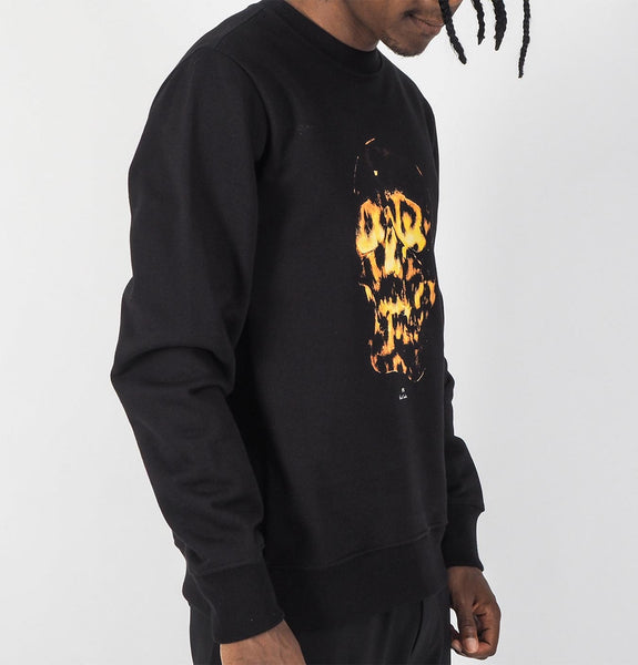 Yellow Skull Sweatshirt Black