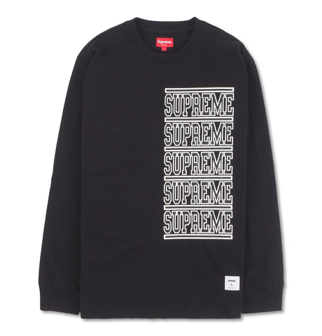 Supreme - Supreme Stacked Long Sleeve T-shirt