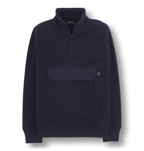 Mens 1/2 Zip Sweatshirt Blue