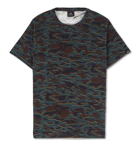 Colored Pattern Tee Multi
