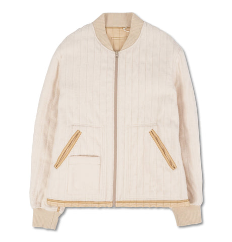 Warm Cotton Jacket Cream White