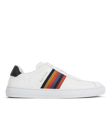 Mens Shoe Levon White Multi Stripe