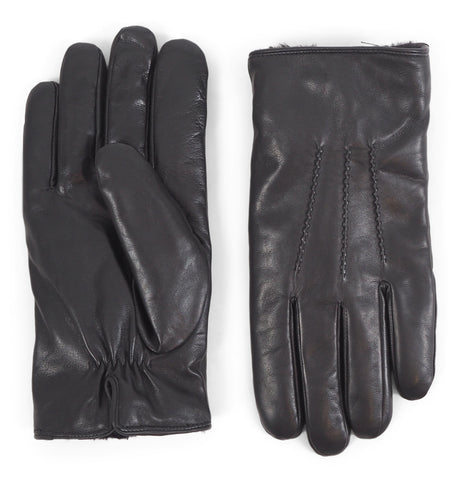 Geron Leather Gloves Black