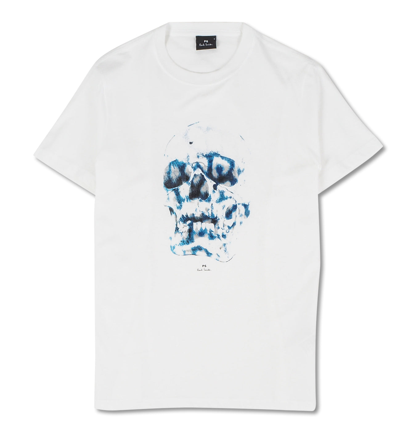 Image of   Blue Skull Tee White