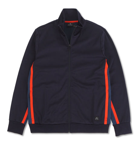 Mens Zip Track Top Dark Blue