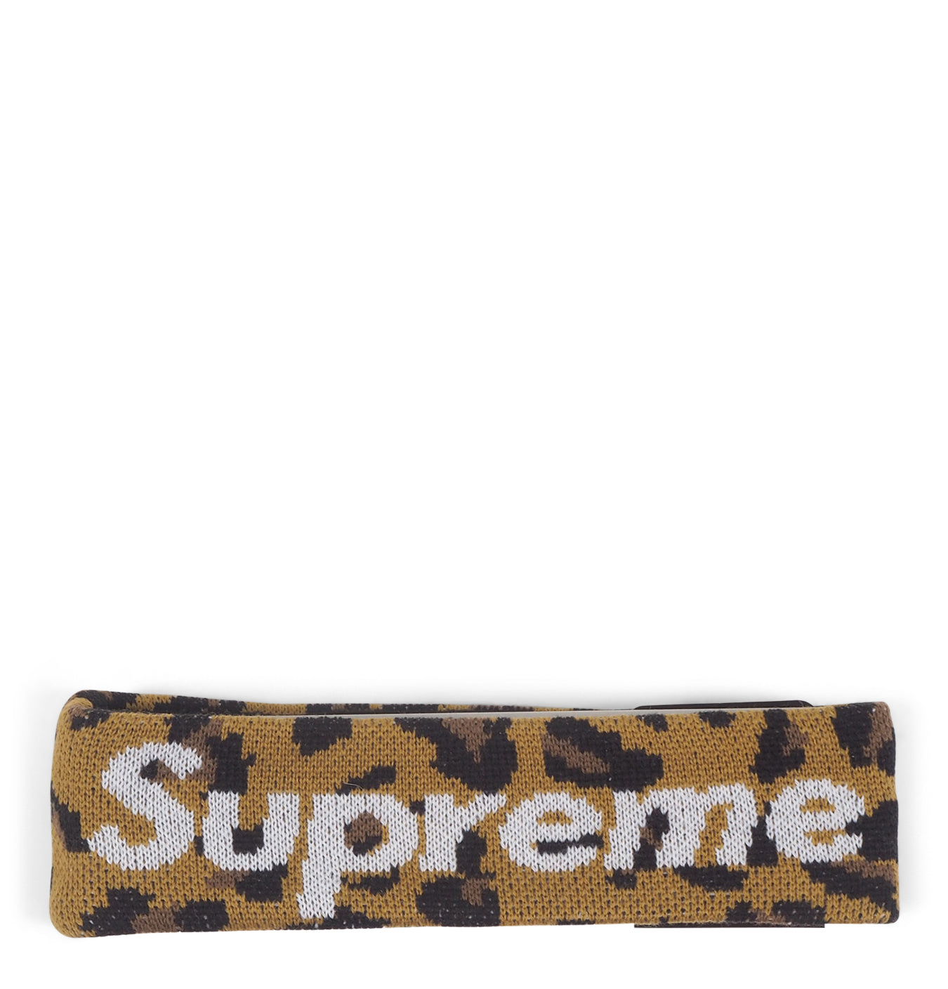 Image of   Supreme New Era Big Logo Headband (FW18) Leopard