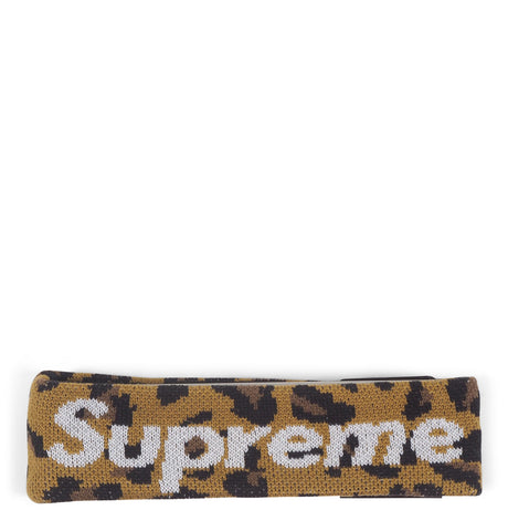 Supreme - Supreme New Era Big Logo Headband (FW18) Leopard