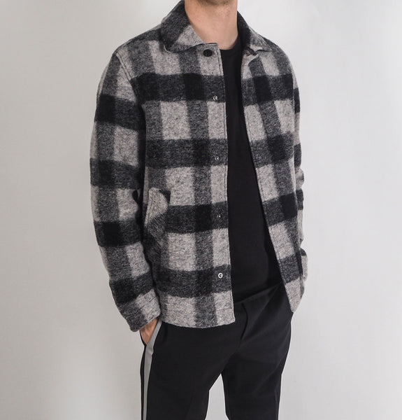 Wool Shirt Grey/Black