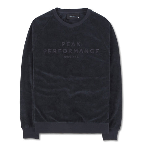 Peak Performance Sweatshirt Velour Navy SS19