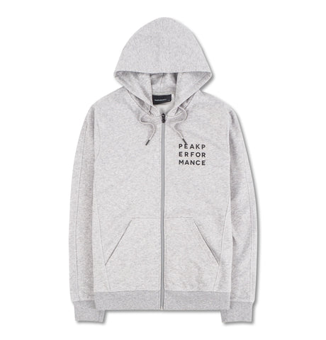 Peak Performance Hoodie Zip Grey