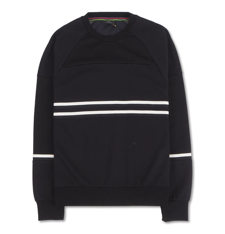 PS Paul Smith - Mens Panelled Crew Neck S Black