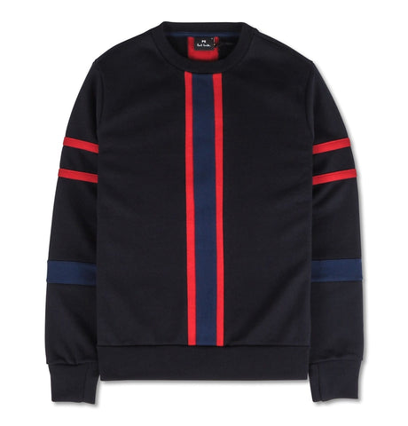 PS Paul Smith - Mens Panelled Crew Neck S Dark Blue