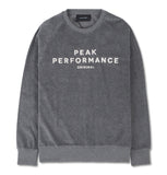 Peak Performance Sweatshirt Velour Grey SS19
