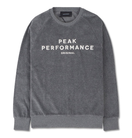 Peak Performance - Sweatshirt Velour Grey