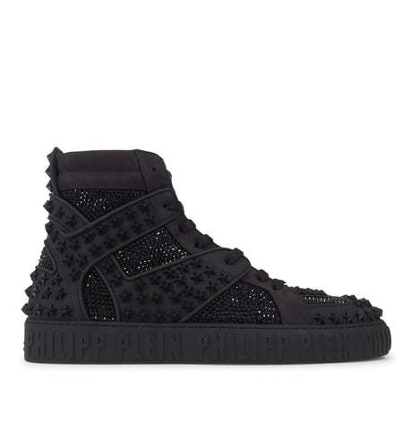 Philipp Plein - Hi-Top Sneakers Crystal Black