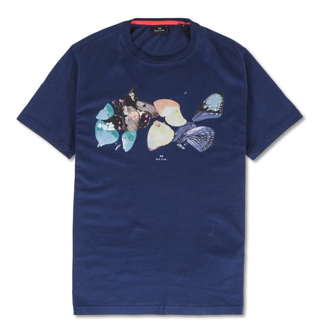 PS Paul Smith - Mens SS Reg Fit T-Shirt Butterfly