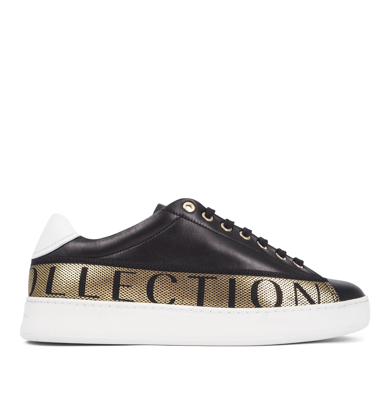 Image of   Sneakers with Gold Text Black