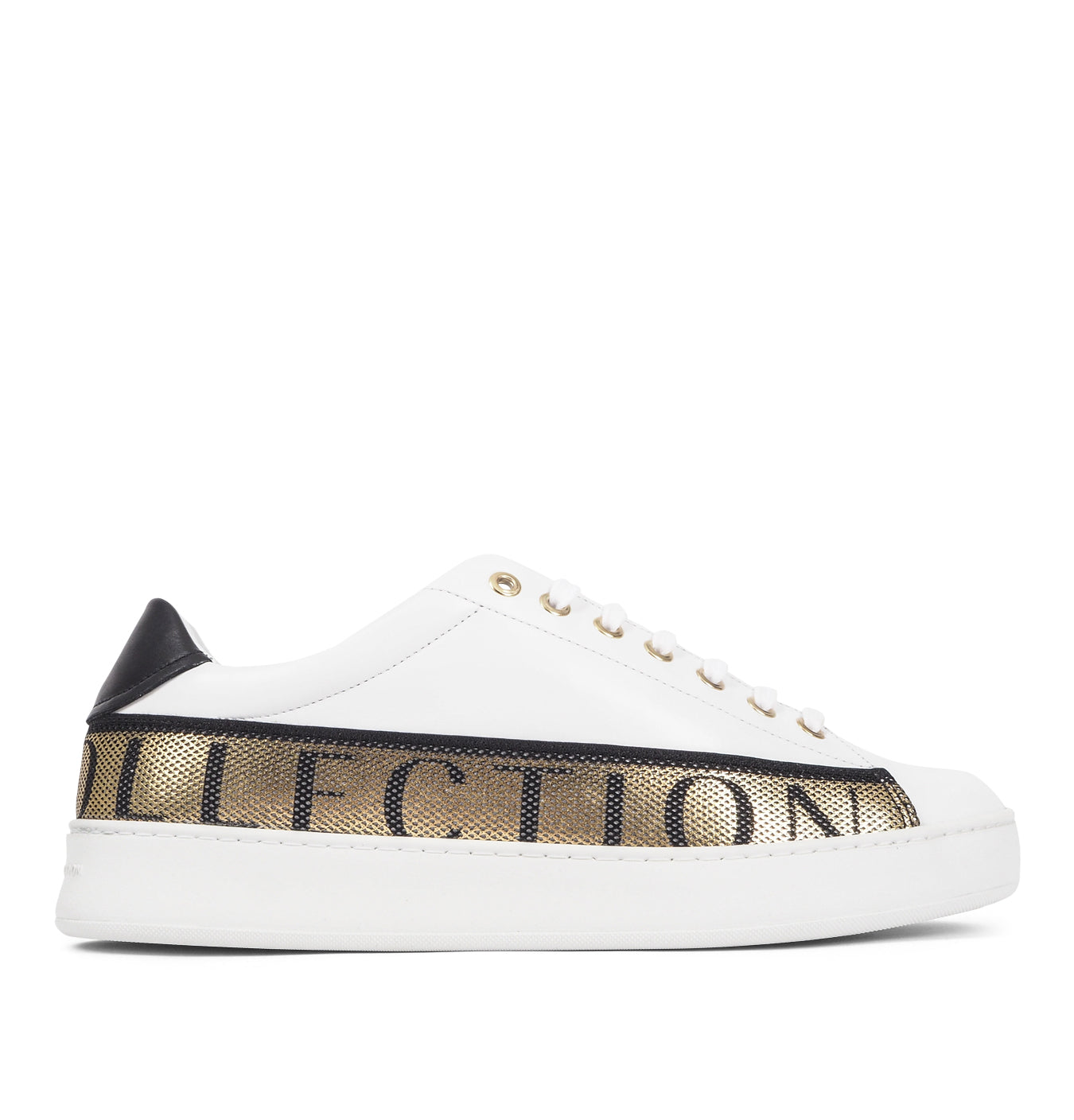 Image of   Sneakers with Gold Text White
