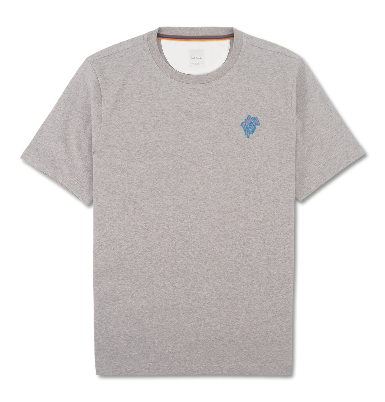 T-Shirt Embroided Logo Grey
