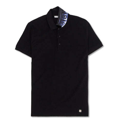 Versace Collection - Pique Polo with Raspberry Collar Detail