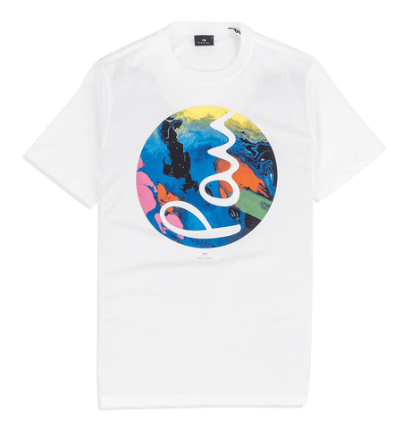 PS Paul Smith - Mens SS Reg Fit T-Shirt Marble