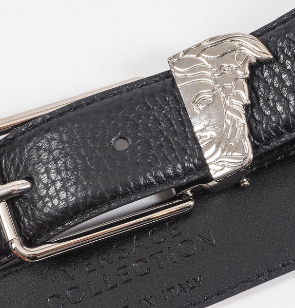 Black Cintura Rough Leather Belt