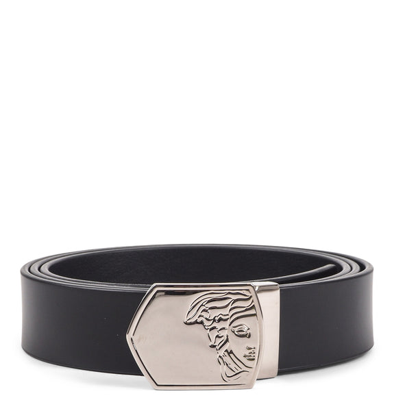 Versace Collection - Black Cintura Sleek Leather Belt