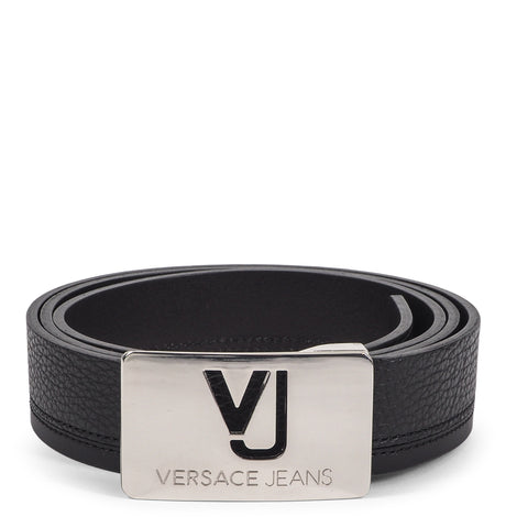 Bottalato Vitello Leather Belt Black