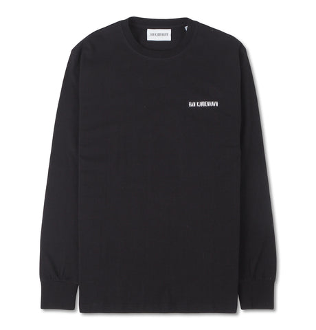 Casual Long Sleeve Tee Black