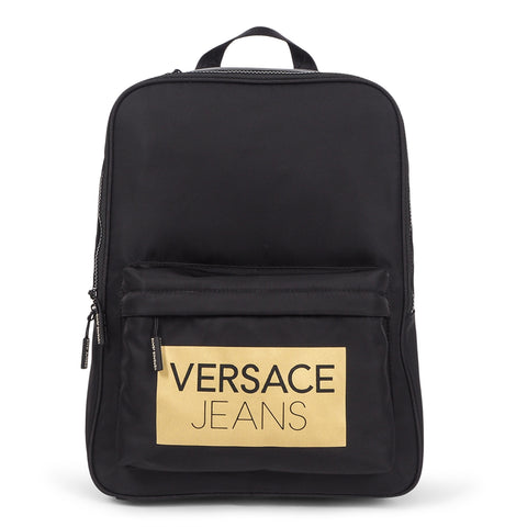 Versace Jeans - Leather Backpack Black